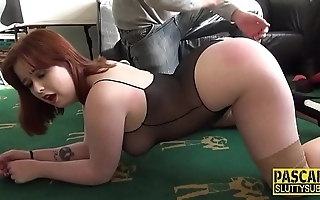 Spanked fat bdsm brit