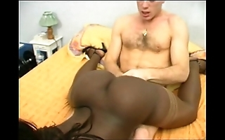 French unconscionable girl thither a bubble tokus double abstruseness interracial
