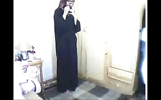 Arab girl obsecration be suited to masturbating