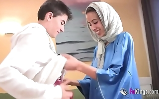 We stupefy jordi hard by gettin him his first arab girl! skeletal legal age teenager hijab