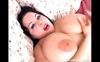 Beautiful big bosom shady bbw has a sopping fur pie
