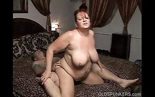 Comely leader of age bbw likes a constant fucking