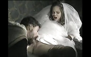 Bride on touching shrink from screwed by officiant