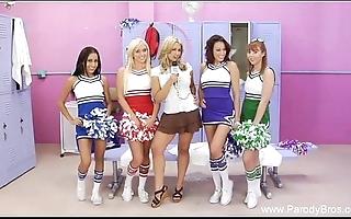 Football cheerleader orgy halftime