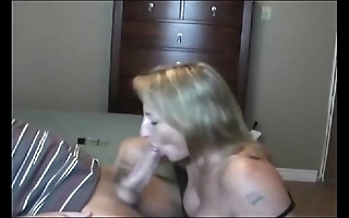 Hot burnish milf sucking!!!