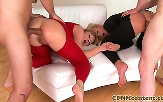 Cfnm babe in arms ivana make more attractive in anal foursome