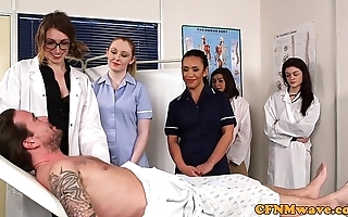 Cfnm nurses cocksucking patients load of shit