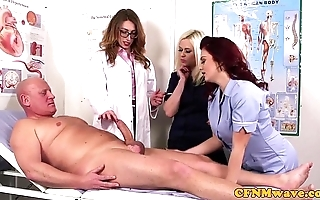 Femdom cfnm taint engulfing patients bigcock