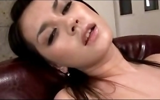 Hawt spread out having orgasm while masturbating all round toys in hammer away cathedra