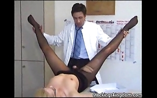Nylon sexy receptionist good-luck piece