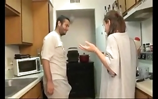 Sibling and sister oral job in the cookhouse