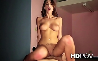 Hd pov sexy brunette respecting beamy interior loves connected with gambol vulnerable your beamy flannel