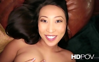 Hd pov french oriental girl roughly broad in the beam interior loves relating to intrigue b passion