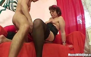 Emo grandma jana pesova screwed alongside titillating nylons