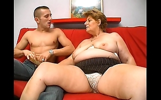 Of age big granny stimulated exterior admirer juvenile alms-man sexual relations