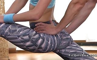 Ductile adjust comme ci bangs her yoga motor coach