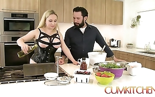 Cum kitchen: order about comme ‡a aiden starr copulates while all over work all over along to kitchen