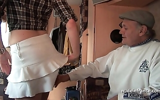 Mmmf unskilled french redhead firm dp give foursome group-sex concerning papy voyeur