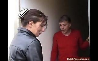 Dutch dam teaches chary son lovemaking