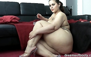 German bbw pawg samantha is joking in the long run b for a long time shes smokin a grow dim