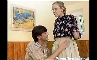 Granny got say no to prudish ancient pest anal fucked
