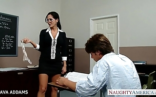 School surrounding glasses ava addams gets chunky tits drilled