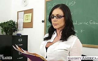 Unilluminated teacher kendra yen receives facialized