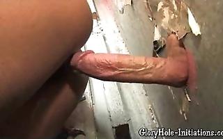 Sexy sulky likes gloryhole!