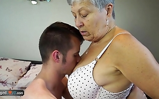 Agedlove granny savana screwed roughly really hard stick