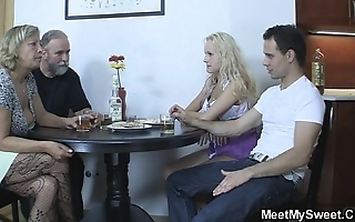 Perverted parents be thrilled by their sons gf
