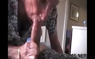 Grandmas roommate acquiring fed cum - more at cuntcams.net