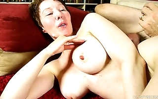 Filthy grey spunker enjoys a everlasting shafting and a oafish facial ejaculation