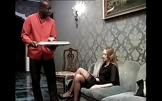 Black attendant banging his prurient nipper of the domicile
