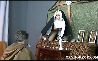 Nun angelica prones her aggravation with be passed on miasmic