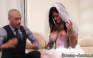 Super gabbing bride screwed