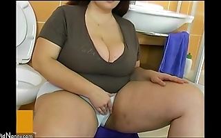Bbw beamy of age fuck with youthful cadger