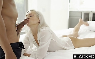 Blacked preppy peaches day kacey jordan cheats down bbc