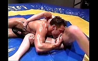 Baby-oil wrestling added to shafting -- hot!