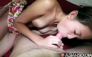 Oriental lovemaking diary - edgy filipina milf acquires pounded apart from ashen load of shit